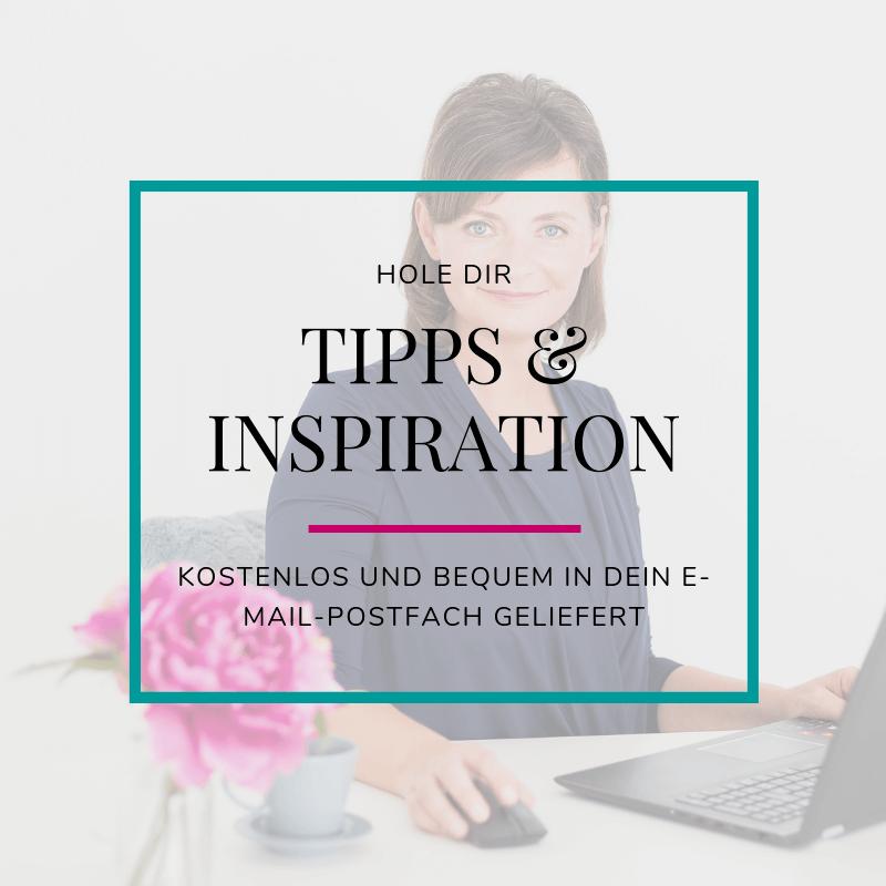 Hole dir Tipps & Inspiration in dein Email-Postfach
